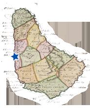 Map of Barbados